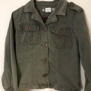 Paris Blues Womens Short Army Green Jacket Size L